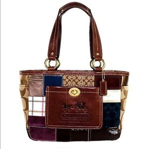 Coach Legacy Holiday Patchwork Small Tote